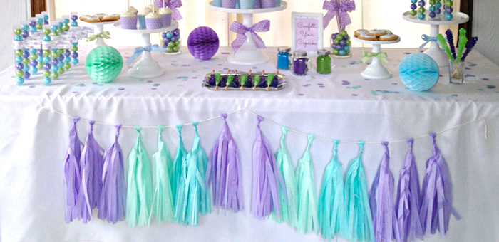 Kara 39 s party ideas confetti themed 12th birthday party via for B day decoration ideas
