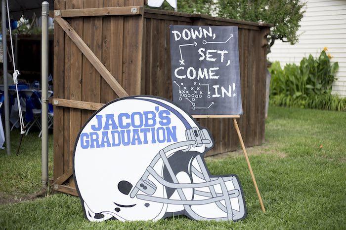 Kara S Party Ideas Football Themed Graduation Party Via