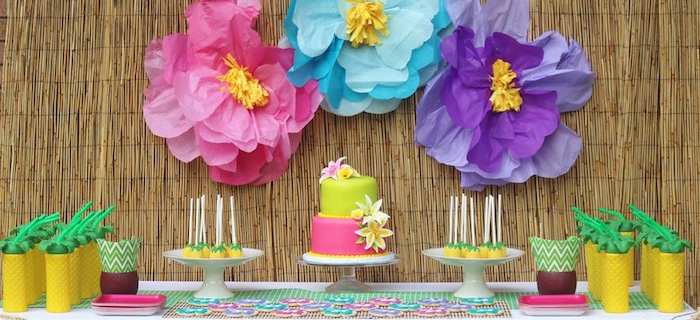 Karas Party Ideas Hawaiian 2nd Birthday