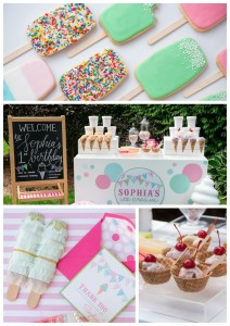 Ice Cream 1st Birthday Party via Kara's Party Ideas | KarasPartyIdeas.com (4)