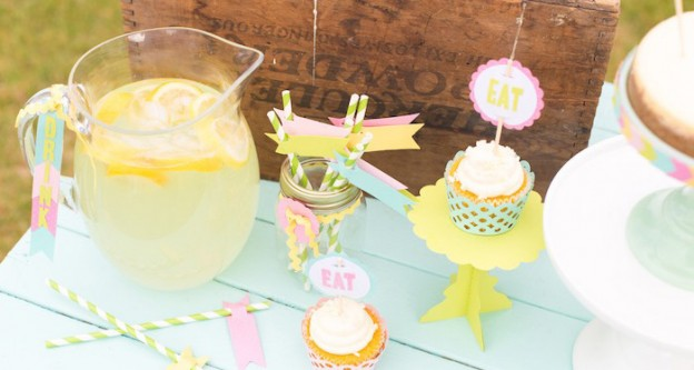 Lemonade Stand Party via Kara's Party Ideas | The Place for ALL Things Party! KarasPartyIdeas.com (1)
