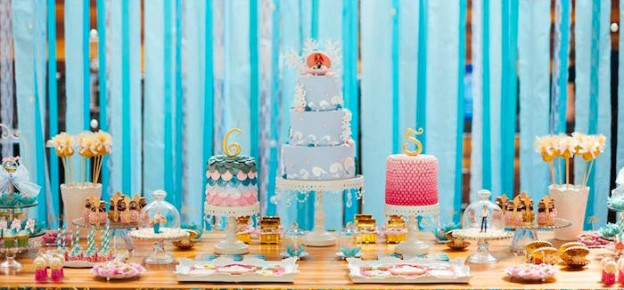 Mermaid themed birthday party via Kara's Party Ideas | The Place for All Things Party! KarasPartyIdeas.com (1)