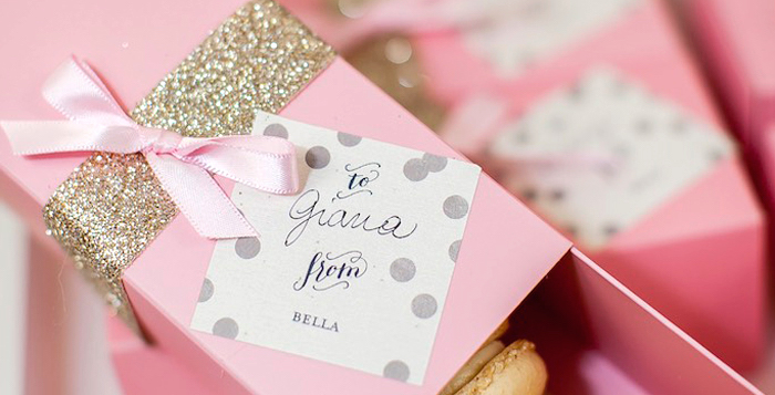 Karas Party Ideas Modern Pink Gold Birthday