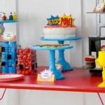 Modern Superhero themed birthday party by Kara Allen | Kara's Party Ideas | KarasPartyIdeas.com-27