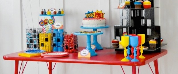 Modern Superhero themed birthday party by Kara Allen | Kara's Party Ideas | KarasPartyIdeas.com-27