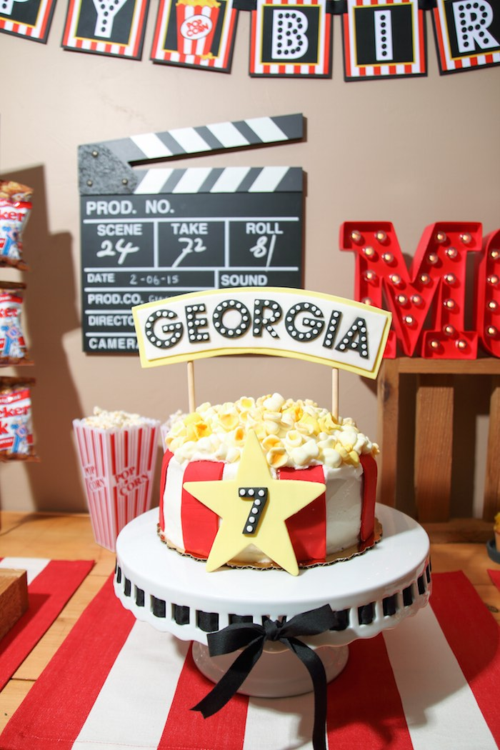 Kara's Party Ideas Movie Theatre Birthday Party via Kara's ...