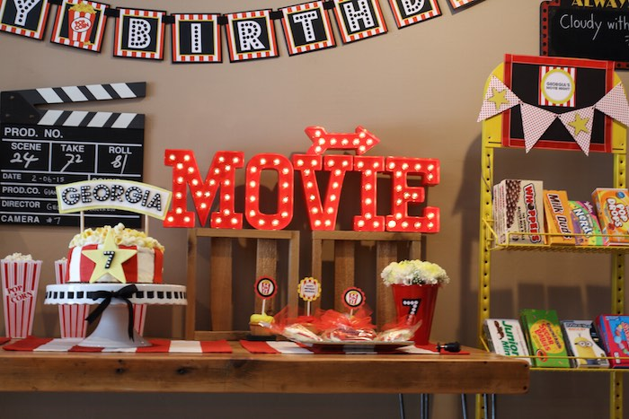 kara u0026 39 s party ideas  u00bb movie theatre birthday party via kara