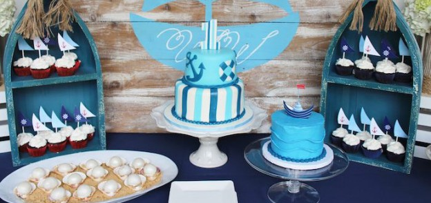 Nautical themed 1st Birthday Party via Kara's Party Ideas | KarasPartyIdeas.com (1)