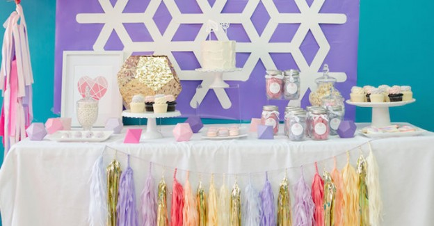 Pastel Geometric 3rd Birthday Party via Kara's Party Ideas | KarasPartyIdeas.com (2)