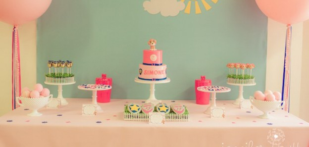 Pink & Blue Paw Patrol Birthday Party via Kara's Party Ideas | The Place for All Things Party! KarasPartyIdeas.com (4)