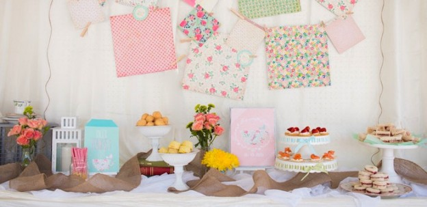 Romantic Shabby Chic Tea Party via Kara's Party Ideas | Cake, decor, printables, recipes, and MORE! KarasPartyIdeas.com (3)