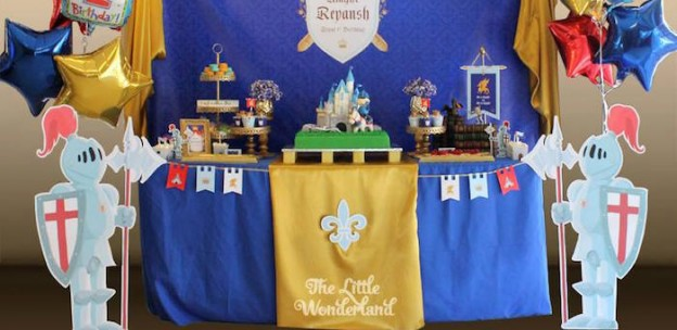 Royal Knight Themed Birthday Party via Kara's Party Ideas KarasPartyIdeas.com (2)