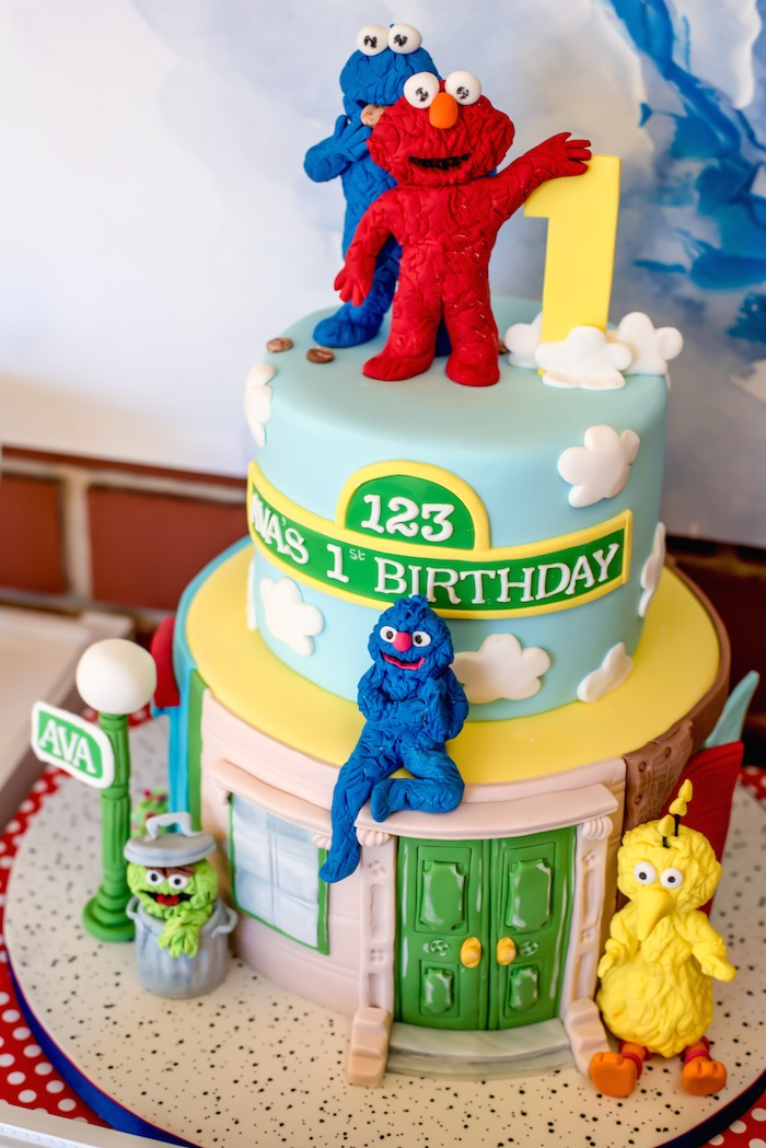 Sesame Street Themed 1st Birthday Party Via Karas Ideas