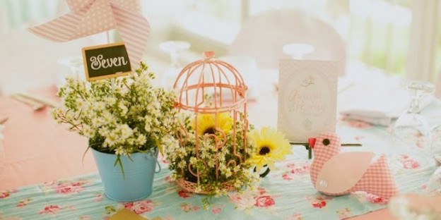 Shabby Chic Garden 1st Birthday Party via Kara's Party Ideas | KarasPartyIdeas.com (2)