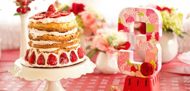Strawberry Shortcake 3rd Birthday Party via Kara's Party Ideas | The Place for All Things Party! KarasPartyIdeas.com (6)