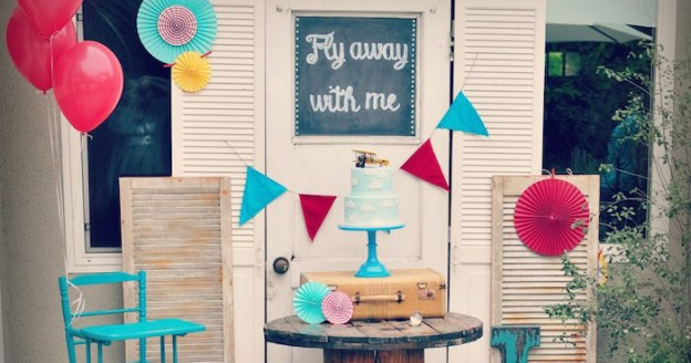 Vintage Airplane 1st Birthday Party via Kara's Party Ideas KarasPartyIdeas.com (1)