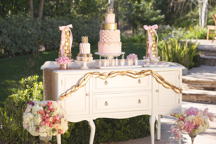 Vintage Glam Princess Birthday Party Via Karas Ideas