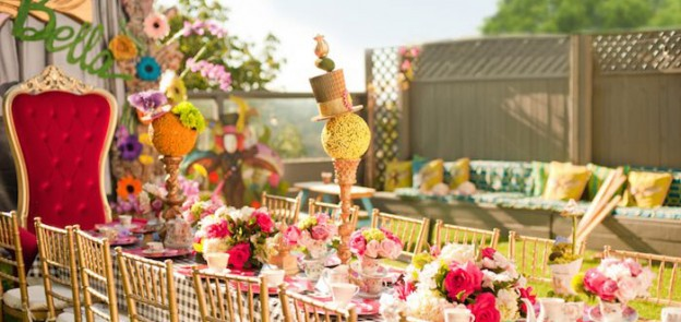 Alice In Wonderland Birthday Party via Kara's Party Ideas KarasPartyIdeas.com (1)