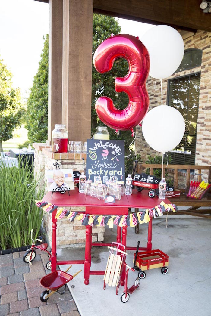 Backyard BBQ Birthday Party Via Karas Ideas