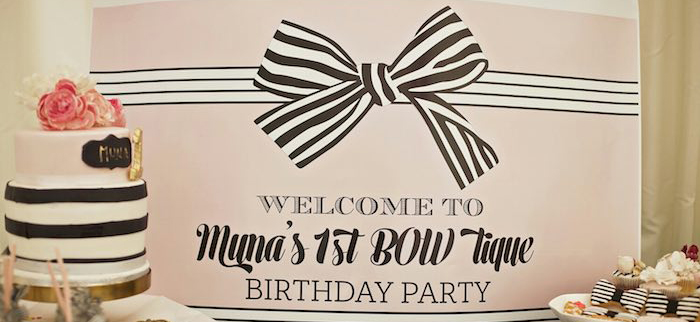 BOW-Tique Chic Birthday Party | Kara's Party Ideas