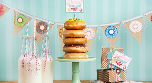 Donut Party + Free Printables via Kara's Party Ideas | The place for all of your party needs! KarasPartyIdeas.com (3)