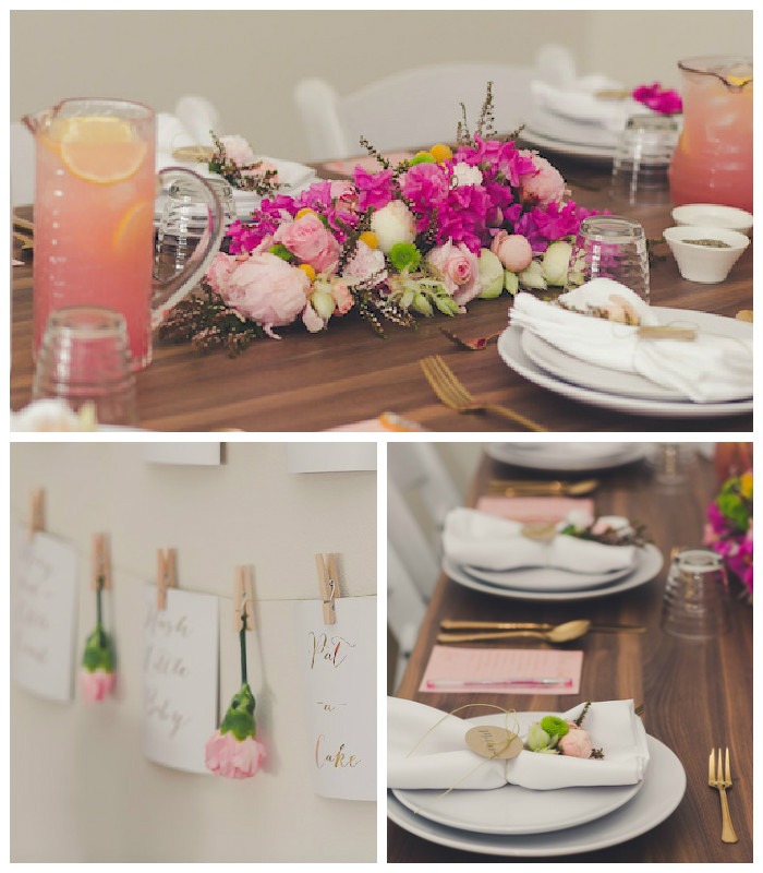 Kara 39 s party ideas elegant floral baby shower luncheon via Elegant baby shower decorations