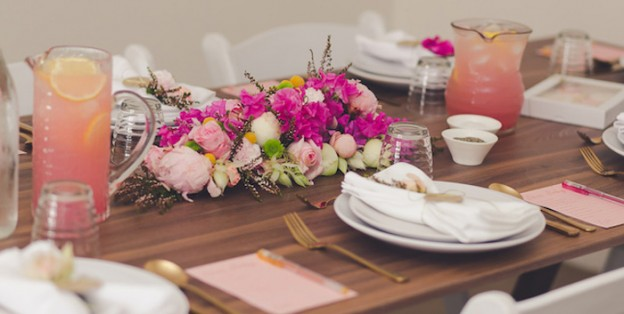 Elegant Floral Baby Shower Luncheon via Kara's Party Ideas | The Place for All Things Party! KarasPartyIdeas.com (3)