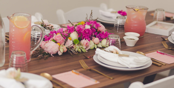 Kara S Party Ideas Elegant Floral Baby Shower Luncheon