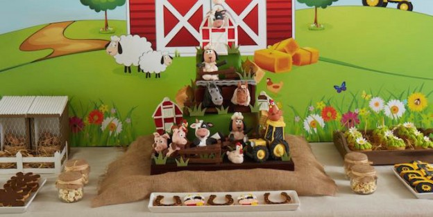 Farm Birthday Party via Kara's Party Ideas | The Place for All Things Party! Including cakes, recipes, decor, printables and MORE! KarasPartyIdeas.com (2)