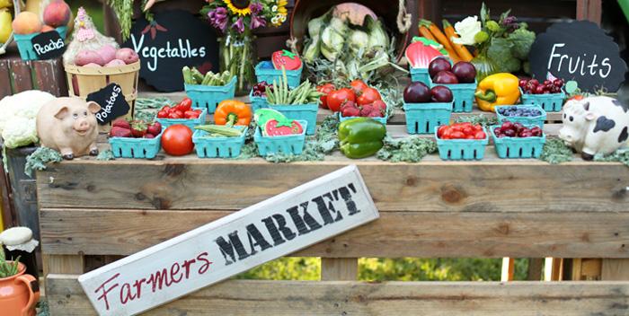 Kara S Party Ideas Farmer S Market Birthday Party