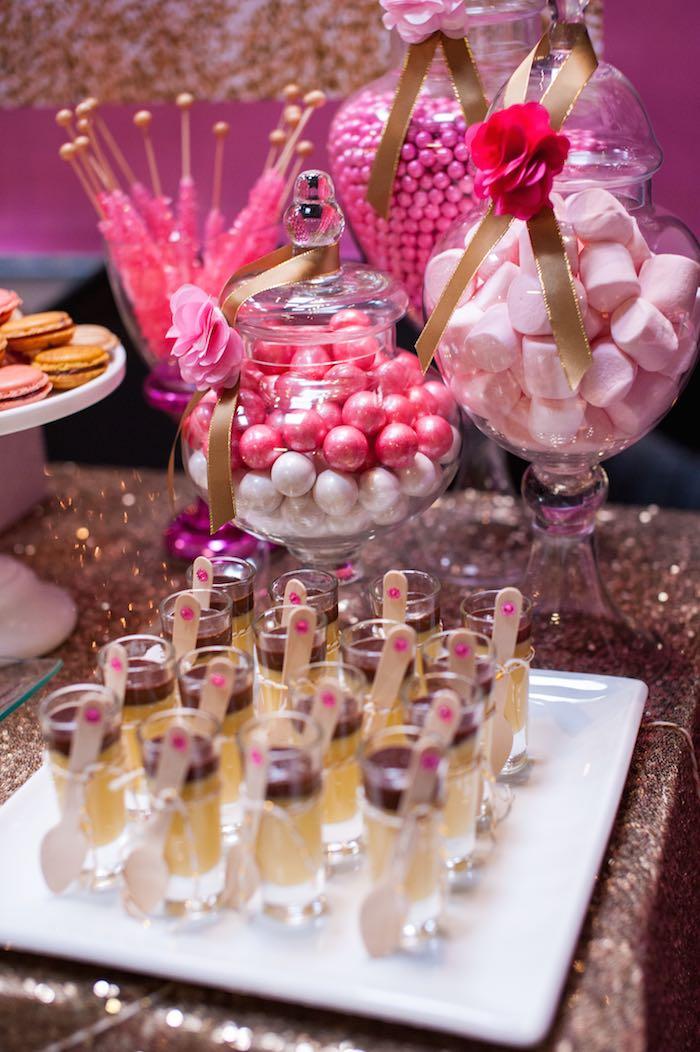 Karas Party Ideas Glamorous Pink Gold 40th Birthday Via