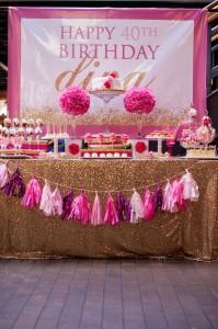 Glamorous Pink & Gold 40th Birthday Party via Kara's Party Ideas | KarasPartyIdeas.com (14)