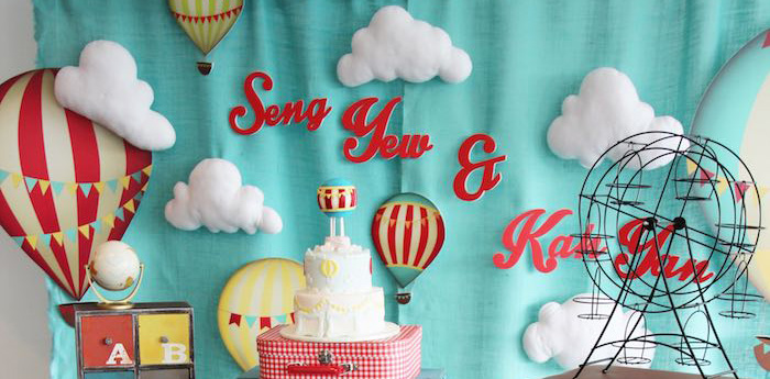"""""""Growing Up Up Up"""" Hot Air Balloon Birthday Party"""