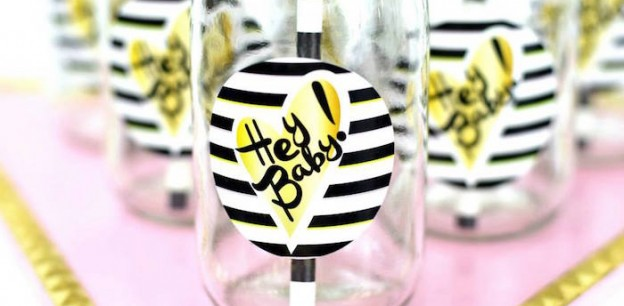 Hey Baby! Hipster Glam Baby Shower via Kara's Party Ideas | The Place for All Things Party! KarasPartyIdeas.com (6)
