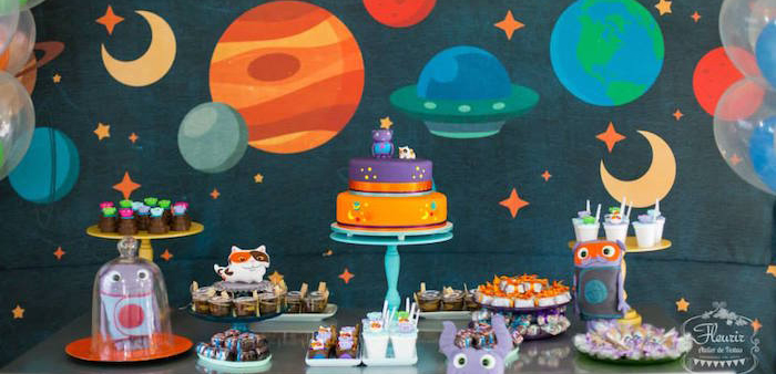 Karas Party Ideas Home Inspired Alien Birthday Party