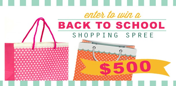 Back to school $500 visa gift card giveaway via Kara's Party Ideas | KarasPartyIdeas.com