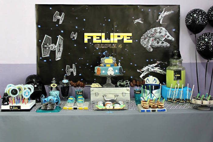 Karas Party Ideas Lego Star Wars Birthday Party via Karas Party
