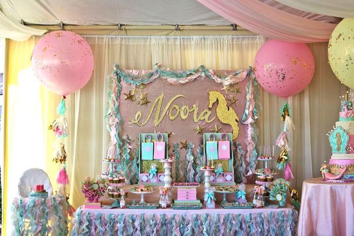 Karas Party Ideas Mermaid Under The Sea 1st Birthday Party via