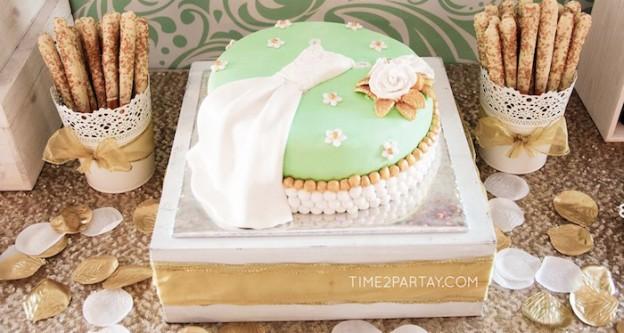 """Mint To Be"" Glamorous Bridal Shower via KARA'S PARTY IDEAS | KARASPARTYIDEAS.COM (2)"