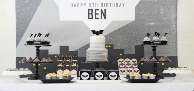 Modern Batman Birthday Party via Kara's Party Ideas | Party ideas, decor, desserts, printables, recipes, and more! KarasPartyIdeas.com (1)