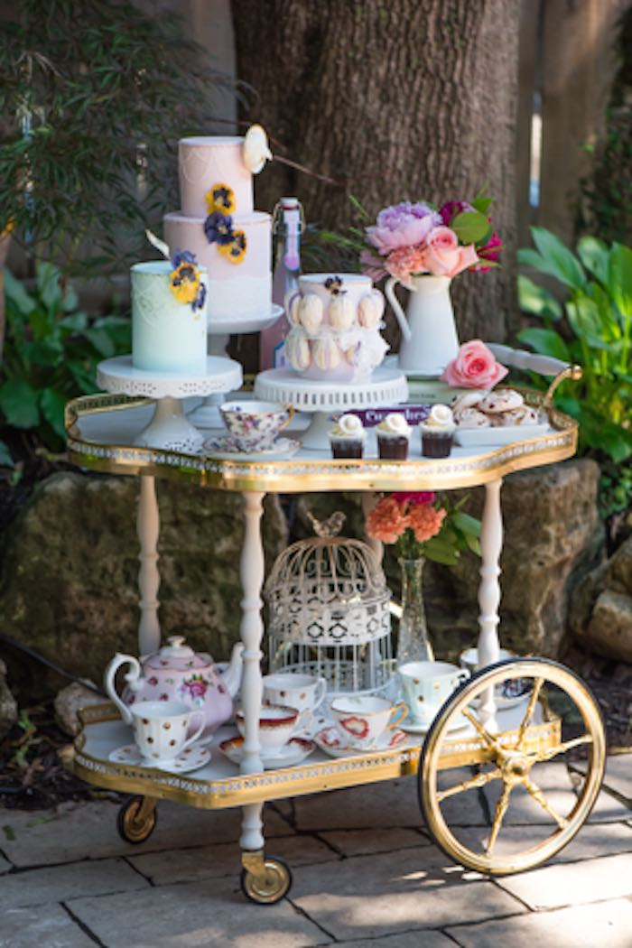 Outdoor Afternoon Tea Party Via Karas Ideas KarasPartyIdeas