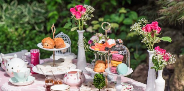 Outdoor Afternoon Tea Party via Kara's Party Ideas KarasPartyIdeas.com (1)