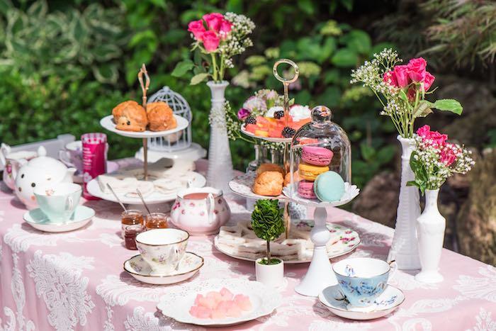 Kara 39 s party ideas outdoor afternoon tea party via kara for High tea party decorations