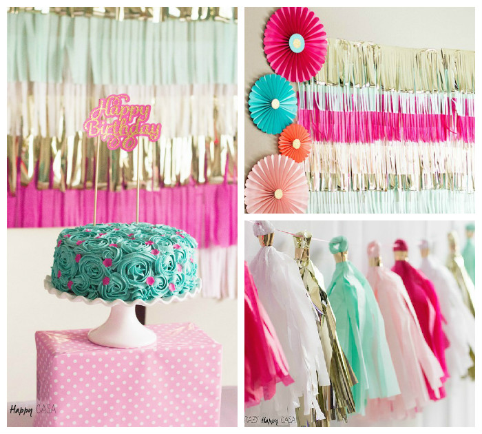 Kara's Party Ideas Pink + Turquoise & Gold Birthday Party ...