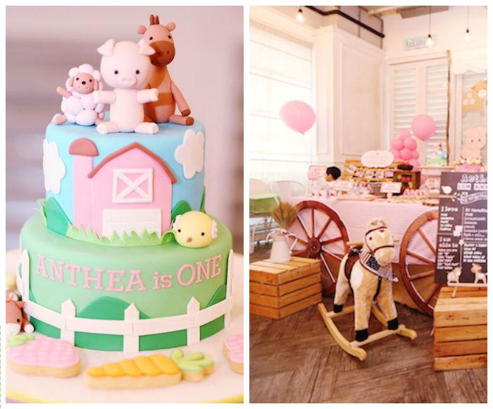 Kara's Party Ideas » Pink Barnyard Birthday Party via Kara ...