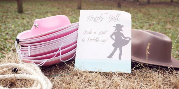 Pink and Mint Cowgirl Birthday Party via Kara's Party Ideas | KarasPartyIdeas.com (2)