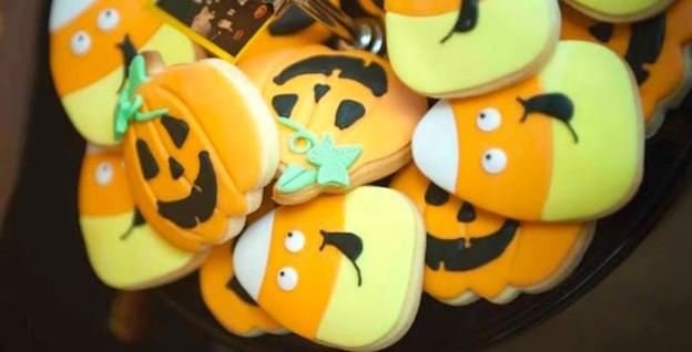 Pumpkin Patch Halloween Dessert Table via Kara's Party Ideas | KarasPartyIdeas.com (2)