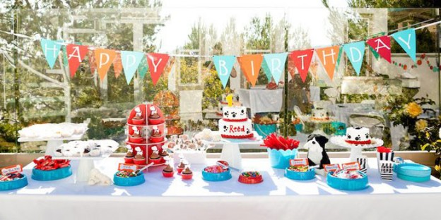 Puppy Themed 1st Birthday Party via Kara's Party Ideas | KarasPartyIdeas.com (2)