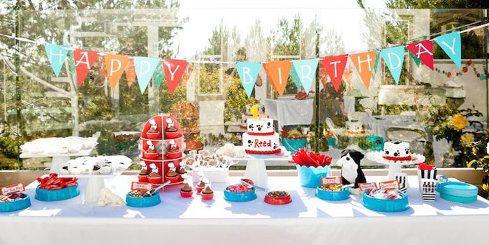 Karas Party Ideas Puppy Themed 1st Birthday Party Karas Party Ideas