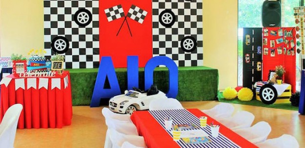 Race Car themed birthday party via Kara's Party Ideas | KarasPartyIdeas.com (1)